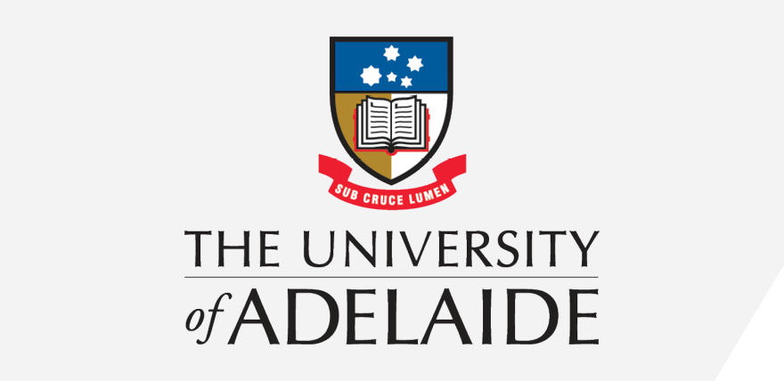 The University Adelaide logo panel