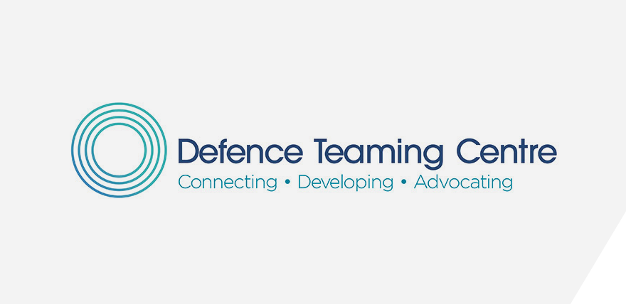 Defence Teaming Centre logo panel